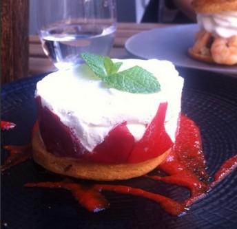 fraisier restaurant privé de dessert